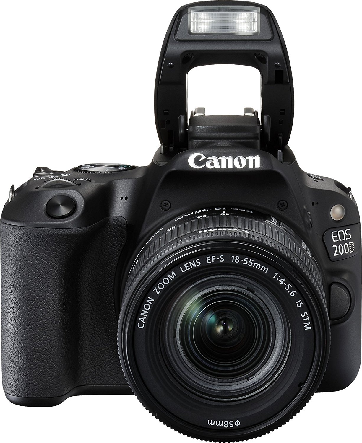 Canon EOS 200D 24.2MP Digital SLR Camera + EF-S 18-55mm f4 IS STM Lens, Free Camera case and 16GB card